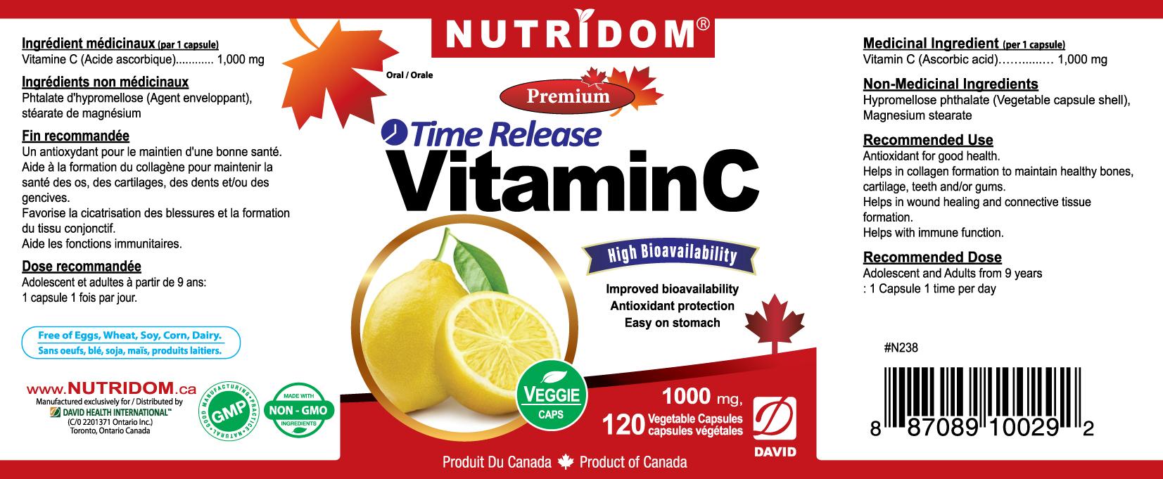 Nutridom Vitamin C 1000mg 120 Vcaps