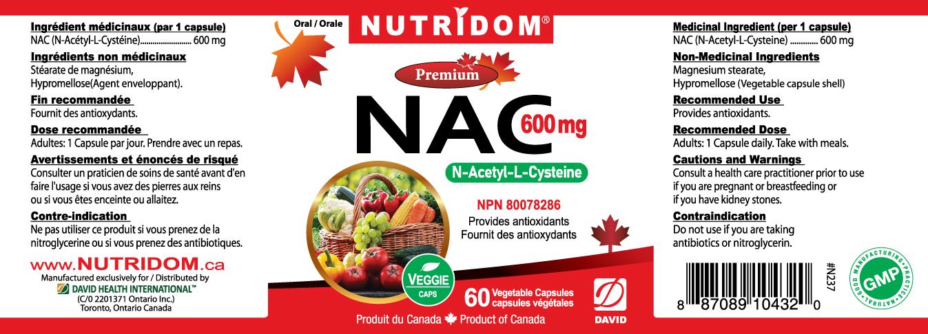 뉴트리돔 NAC 600mg 60캡슐