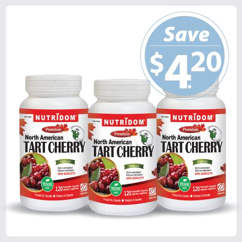 Nutridom Tart Cherry 500mg 120 Vcaps - 3 PACK