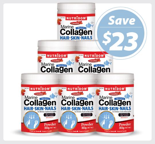 Nutridom Marine Collagen 303g - 6 PACK