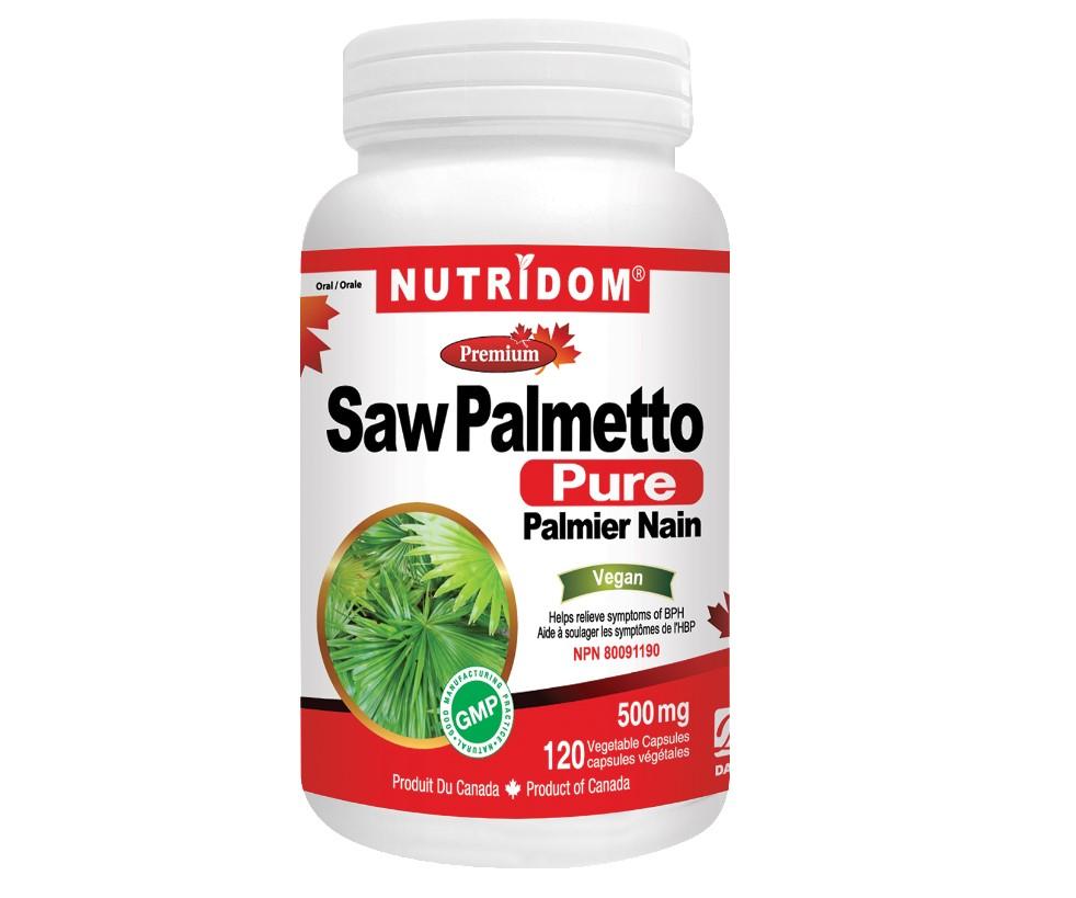 Nutridom Pure Saw Palmetto 500 mg 120 Vcaps