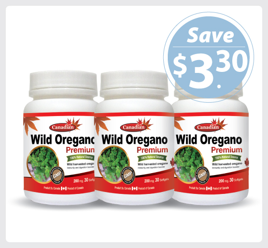 Nutridom Wild Oregano 200 mg 30 Softgels - 3 PACK